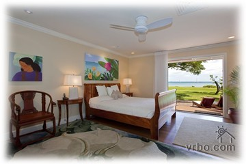Bedroom & lanai with ocean view
