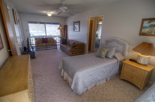 2 twin beds in Den area