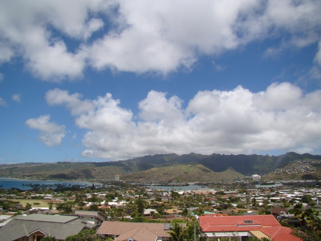 View of Honolulu from home