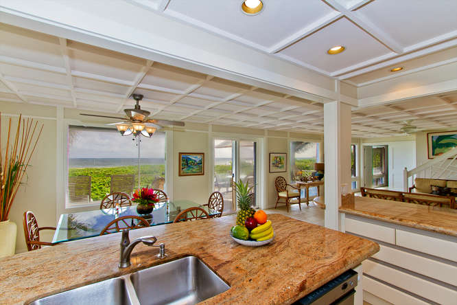 Full gourmet kitchen in Kailua vacation home