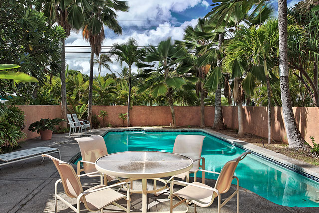 Enjoy the custom pool & spacious pool deck