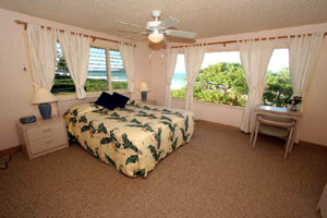 Bedroom in Kailua beachfront home
