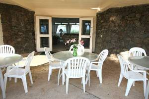 Covered lanai in Kailua vacation home