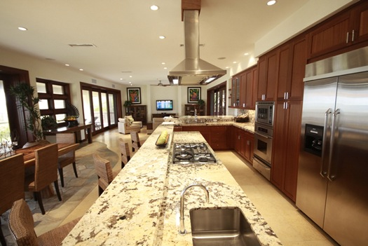 View of Kitchen with huge island